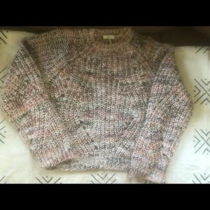 Joie Marled Open Knit Sweater